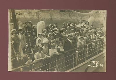 Devon ILFRACOMBE Group Photo paddle steamer Barry c1900/10s? RP PPC pub by Lees
