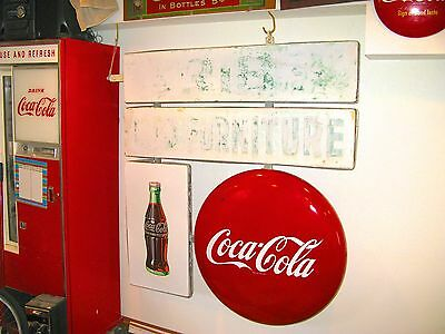 Vintage 1948 Porcelain Coca Cola Button Disc / Bottle Flange (2 Sided) Sign Rare
