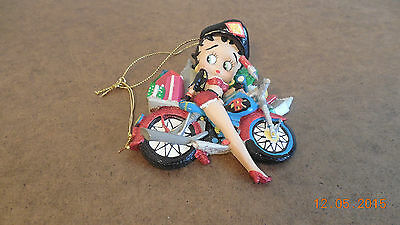 Betty Boop Riding Motorcycle Christmas Ornament Hearst 2006