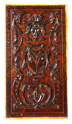 19th Century French Carved Oak Panel Furniture Fragment Door Neoclassic Louis XV