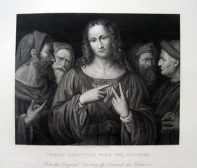 + Leonardo Da Vinci: Jesus Unter Den Ärzten. Christ Disputing With The Doctors +
