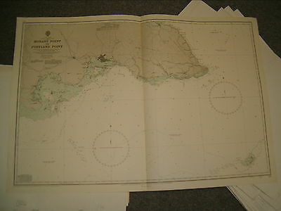 Vintage Admiralty Chart 255 JAMAICA - APPROACHES TO KINGSTON 1963 edn
