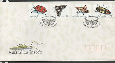 Australia 1991 FDC Australian Insects fine used set stamps