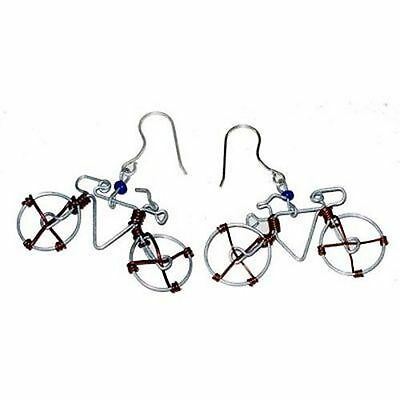 Handmade Wire Bicycle Earrings