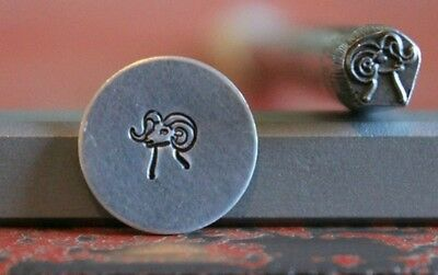 SUPPLY GUY 5mm Big Horn Sheep Metal Punch Design Stamp SGS-18, Made in the USA
