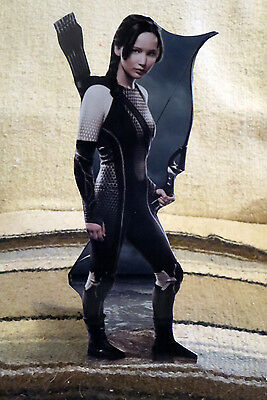 "Hunger Games Mockingjay Jennifer Lawrence Tabletop Display Movie Standee 11""Tall"