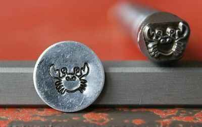 SUPPLY GUY 7mm Crab Metal Punch Design Stamp SG375-121, Made in the USA