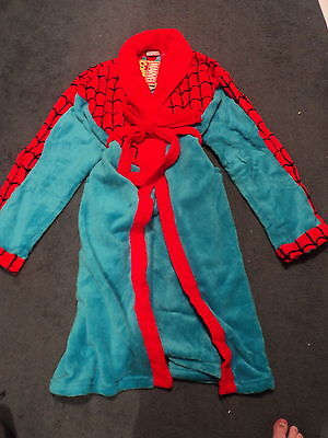 Marvel Spiderman Adults Mens Fleece Robe Dressing Gown Size Large New