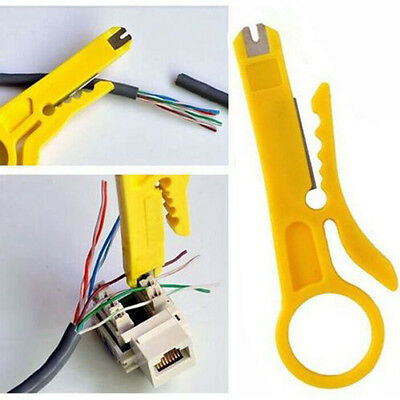 Functional Strip Data Cable Terminates Wire Punch Down Cutter Stripper Home Tool