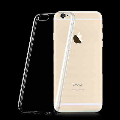 4.7'' White Ultra Thin Soft TPU Gel Transparent Skin Case Cover For iPhone 6 6S