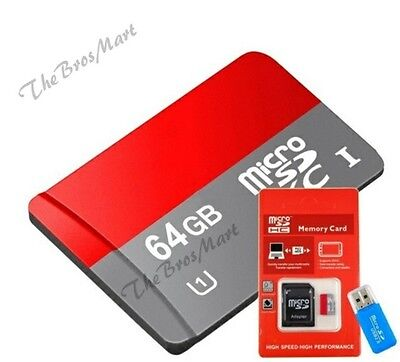 Real Capacity 64 GB Micro SD Card with Gift Adapter