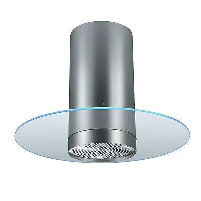 Cookology CYL905LED 90cm Island Cooker Hood in Stainless Steel   Mood Lighting