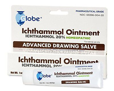 Ichthammol Ointment USP 20% Drawing Salve 1oz Tube -FREE WORLDWIDE SHIPPING-
