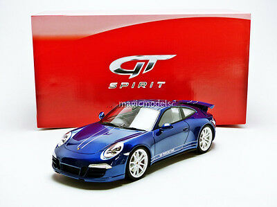 GT Spirit 2013 Porsche 911 / 991 Carrera 4S 5M Blue Metallic LE of 1000 1/18 New