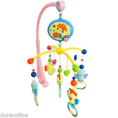 Kids Baby Bed Toys Rattles Revolving  with Music Batteries Operated