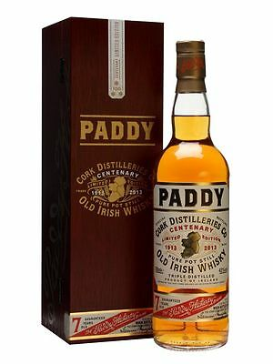 Paddy Centenary Edition Single Pot Still Irish Whiskey 700ml