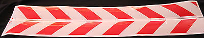 Red/White Class 2 Reflective Tape 50mm x 1.15m Pair (Left & Right Direction)