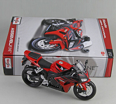 Collection Diecast Model 1/12 Scale Honda CBR1000R Diy Assembly Motorcycle Kit