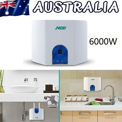 6000W Electric Instant Hot Water Heater Portable Kitchen Shower Hot Water System