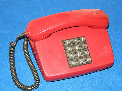 ANCIEN vintage TELEPHONE old phone red ALT TELEFON fetap 0111 Bundespost GERMANY