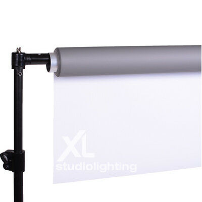 2m x 5m DUO Grey & White Photo Background Vinyl + Support Stand