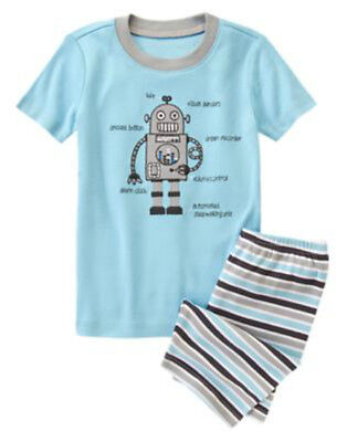 NWT Gymboree GYMMIES Wacky Robot Print Snug Fit S//S 2PC Pajamas PJ/'S