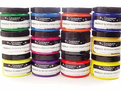 Textile Screen Printing Ink 150ml (5.3 Oz)