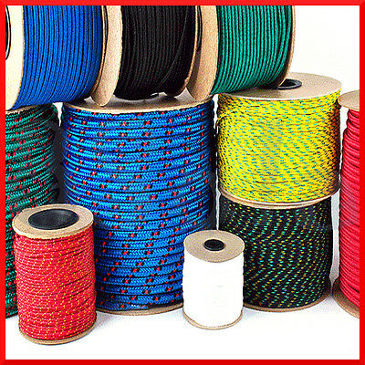 3mm Polypropylene Rope Braided Poly Cord Line Sailing Boating Camping Climbing
