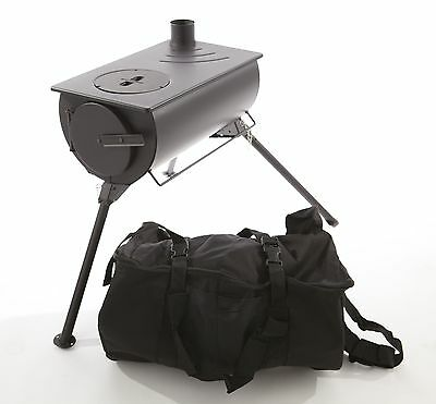 Outbacker® Portable Tent Stove & Spark Arrestor Package + Free Carry Bag