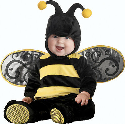 Tutina Costume Halloween Carnevale Calabrone 0-24M Baby Carnival Costume Stinger