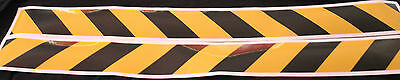 Yellow/Black Class 2 Reflective Tape 75mm x 1.15m Pair (Left & Right Direction)