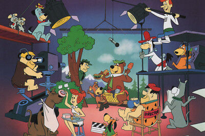 QUIET ON THE SET PRINT Hanna Barbera Yogi Scooby Fred
