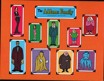 Hanna Barbera STYLE GUIDE PLATE - The ADDAMS FAMILY