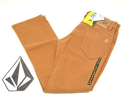 VOLCOM STONE BOYS YOUTH KIDS RISER TAPERED FIT CORD BLUE PANTS JEANS NWT//NEW $60