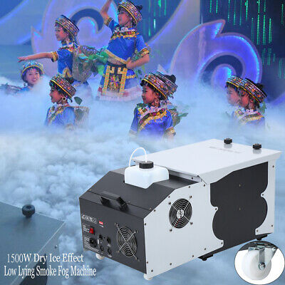 1500W Fog Machine Smoke Fog Maker Dry Ice Effect Foggy Show Remote DMX Control