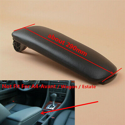 New Black Leather Center Console Armrest Lid Top Fit For AUDI A4 B6 B7 Quattro