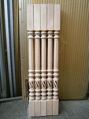 Stair Balusters Graceful Flows Carved Wood Spindles Banisters Staircase Railing