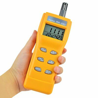 0~9999ppm CO2 Level DP Meter Thermometer Hygrometer Indoor Air Quality Monitor