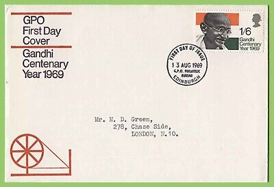 G.B. 1969 Gandhi issue on GPO First Day Cover