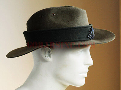WWI 1st Australian Imperial Force 3rd Division Slouch Hat Size S (55-56)