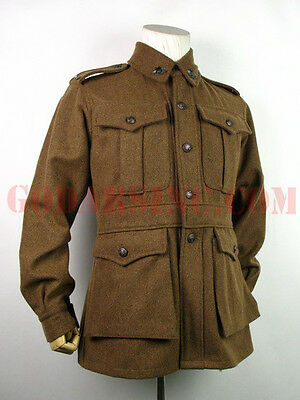 WWI 1st Australian Imperial Force Brown Wool Service Tunic L