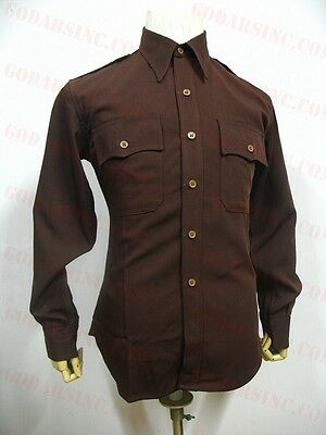 "WWII US Army Air Forces Pattern ""Chocolate"" Regulation Shirt L"