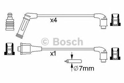 Bosch Ignition Cable Kit 0986356990