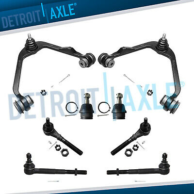 Ford F-150 Expedition 2WD RWD 8pc Front Upper Control Arm Ball Joint Tie Rod Kit
