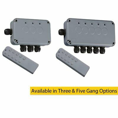 Remote Controlled IP66 Weatherproof Outdoor Switch Box 3 Gang & 5 Gang