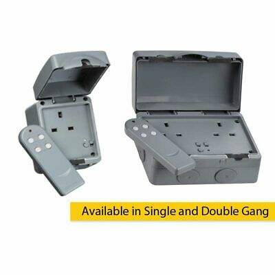 13A Double Pole Remote Controlled IP66 Weatherproof Outdoor Socket 1G and 2 Gang
