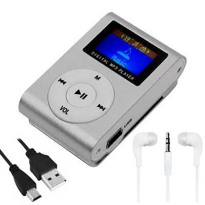 Mini lettore MP3 con Radio FM Music Reader Grigio + Cuffie Jack + Cavo Mini USB