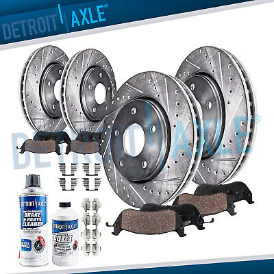 Front & Rear DRILLED Rotor + Ceramic Pad 300 Challenger Charger V8 RWD & V6 AWD
