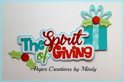 Craftecafe Mindy Christmas Spirit title premade paper piecing scrapbook page