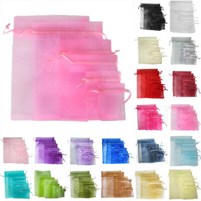 9X12cm LUXURY Organza Gift Bags Jewellery Pouches Wedding Party Candy Favour